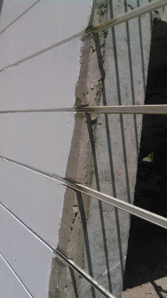 Hình ảnh thi công nẹp chỉ âm tường